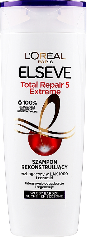 Szampon rekonstruujący Total Repair Extreme - L'Oreal Paris Elseve Shampoo
