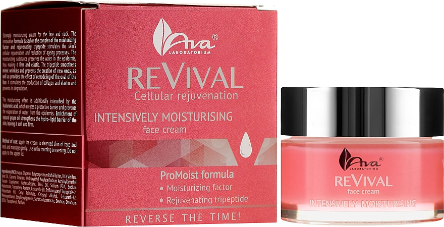 Silnie nawilżający krem do twarzy - Ava Laboratorium Revival