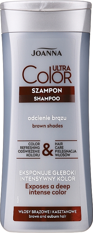 Szampon podkreślający odcień włosów brązowych i kasztanowych - Joanna Ultra Color System