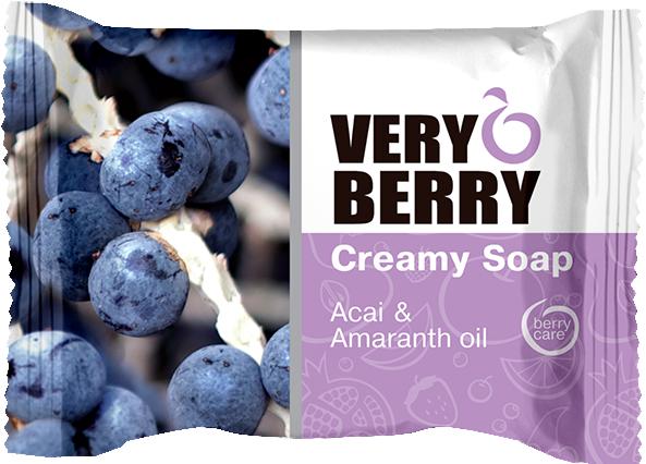 Kremowe mydło w kostce Jagody acai i olej amarantusowy - Very Berry Acai & Amaranth Oil Creamy Soap