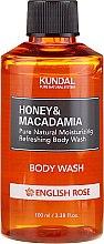 Kup Intensywnie nawilżający żel pod prysznic Angielska róża - Kundal Honey & Macadamia Body Wash English Rose