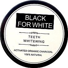 Wybielający proszek do zębów z węglem aktywnym - Biomika Black For White Teeth Whitening — фото N1