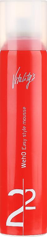 Mus nadający włosom gęstość - Vitality's We-Ho Easy Style Mousse