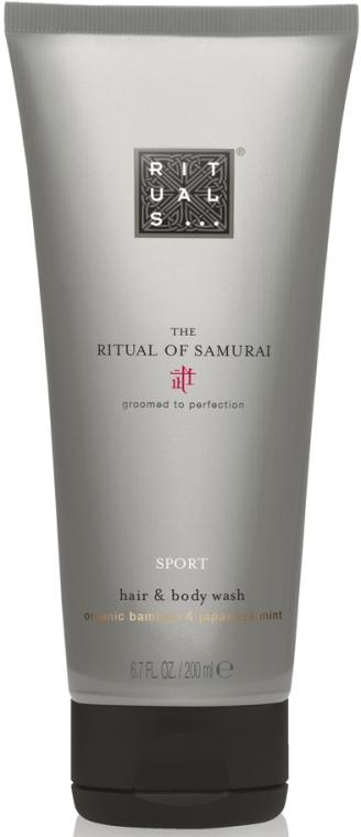 Żel do mycia ciała i włosów dla mężczyzn Sport Bambus i mięta japońska - Rituals The Ritual of Samurai Sport Hair & Body Wash — фото N1