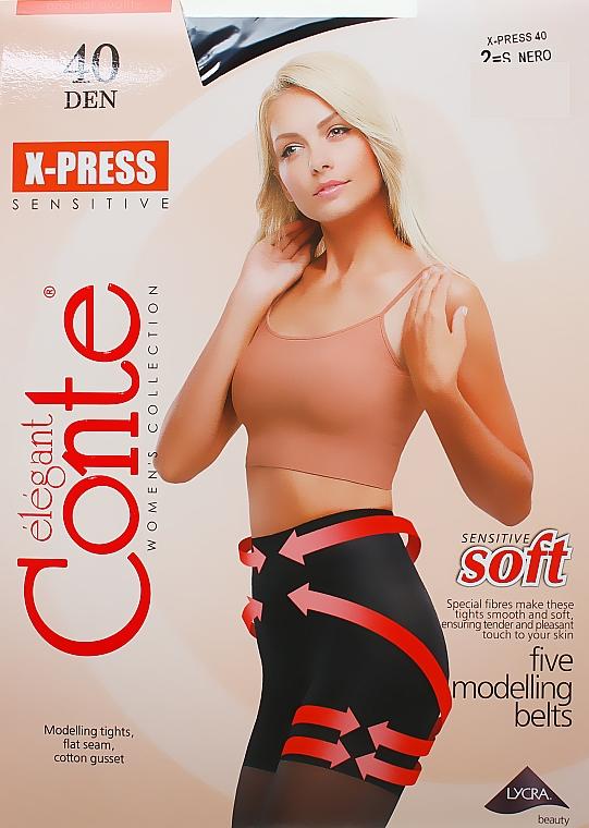 """Rajstopy """"X-press"""" 40 DEN, nero - Conte — фото N1"""