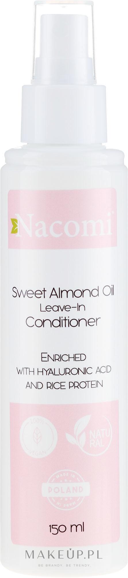 Odżywka do włosów bez spłukiwania z olejem migdałowym - Nacomi Natural — фото 150 ml