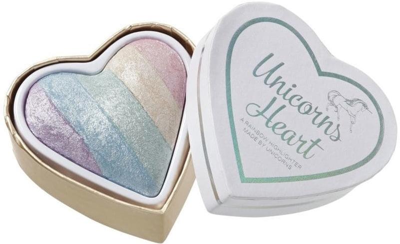 Rozświetlacz do twarzy - I Heart Revolution Unicorns Heart Rainbow Highlighter Blush Powder