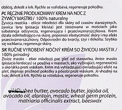 Ręcznie robiony krem do twarzy na noc - Hristina Cosmetics Handmade Mastic Night Cream — фото N3