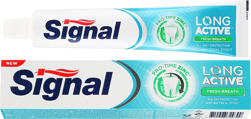Pasta do zębów - Signal Long Active Fresh Breath Toothpaste — фото N1