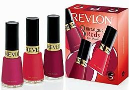 Kup Zestaw - Revlon Kit Trio Flirtatious Reds (nail/3pcs)