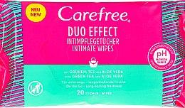 Kup Chusteczki nawilżane z aloesem do higieny intymnej, 20 szt. - Carefree Duo Effect