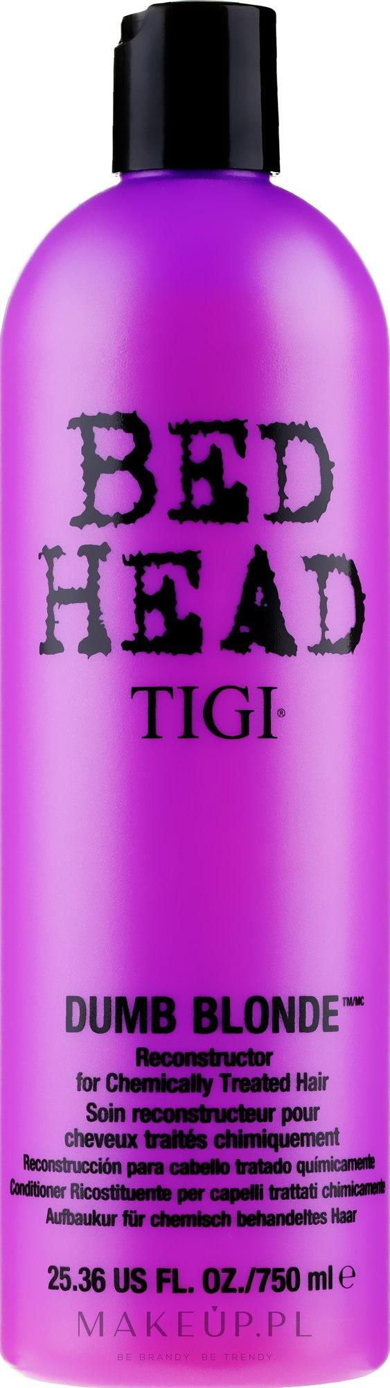 Odbudowująca odżywka do włosów rozjaśnianych - Tigi Bed Head Dumb Blonde Reconstructor Conditioner — фото 750 ml