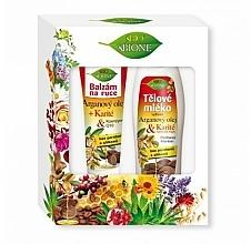 Kup Zestaw - Bione Cosmetics Argan Oil (h/balm/200ml + b/lot/500ml)