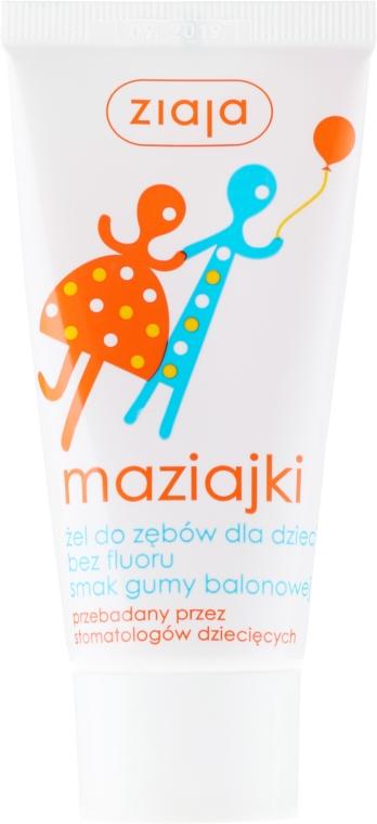 Żel do mycia zębów dla dzieci Guma balonowa - Ziaja Maziajki