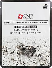 Kup Oczyszczająca maseczka-ampułka do twarzy z ekstraktem z węglem drzewnym - SNP Charcoal Mineral Black Ampoule Mask
