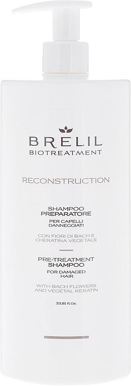 Przygotowujący szmpon do włosów - Brelil BioTreatment Reconstruction Shampoo — фото N1