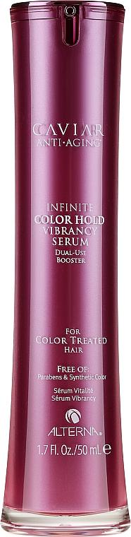 Serum o podwójnym działaniu podkreślające kolor włosów - Alterna Caviar Anti-Aging Infinite Color Hold Vibrancy Serum
