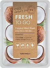 Kup Nawilżająca maska na tkaninie do twarzy kokos - Tony Moly Fresh To Go Coconut Mask Sheet Hydrating