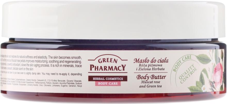 Masło do ciała Róża piżmowa i zielona herbata - Green Pharmacy