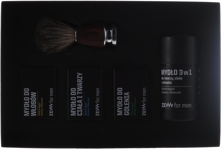 Zestaw Golibrody - Zew For Men Barber's Set (4 x soap 85 ml + brush) — фото N1