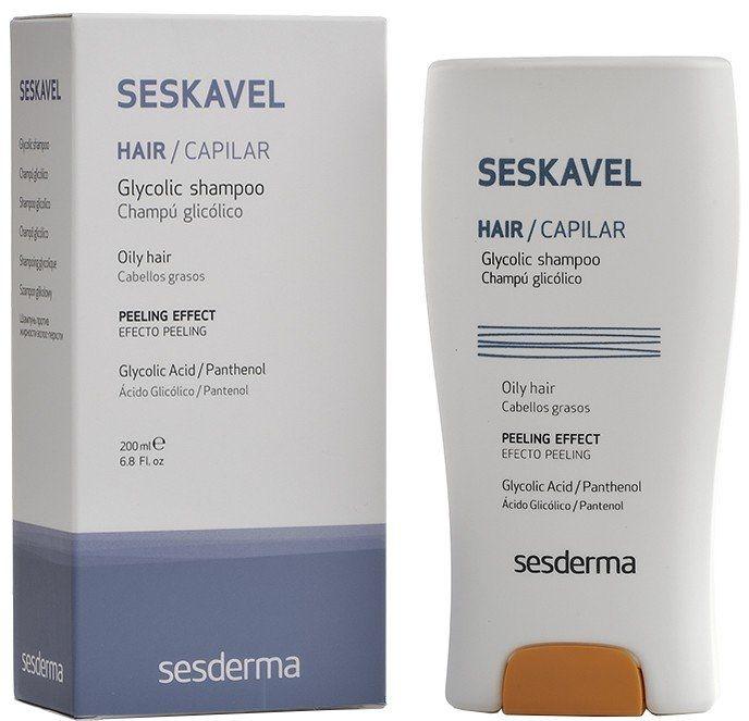 Szampon do włosów z kwasem glikolowym - SesDerma Laboratories Seskavel Glycolic Shampoo — фото N1