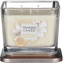 Kup Świeca zapachowa w szkle - Yankee Candle Elevation Rice Milk & Honey Small 1-Wick Square Candle