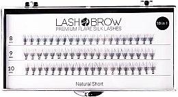 Kup Jedwabne kępki rzęs - Lash Brow Premium Flare Silk Lashes Natural Short