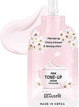 Kup Rozświetlający krem do twarzy - Beausta Pink Tone-Up Cream