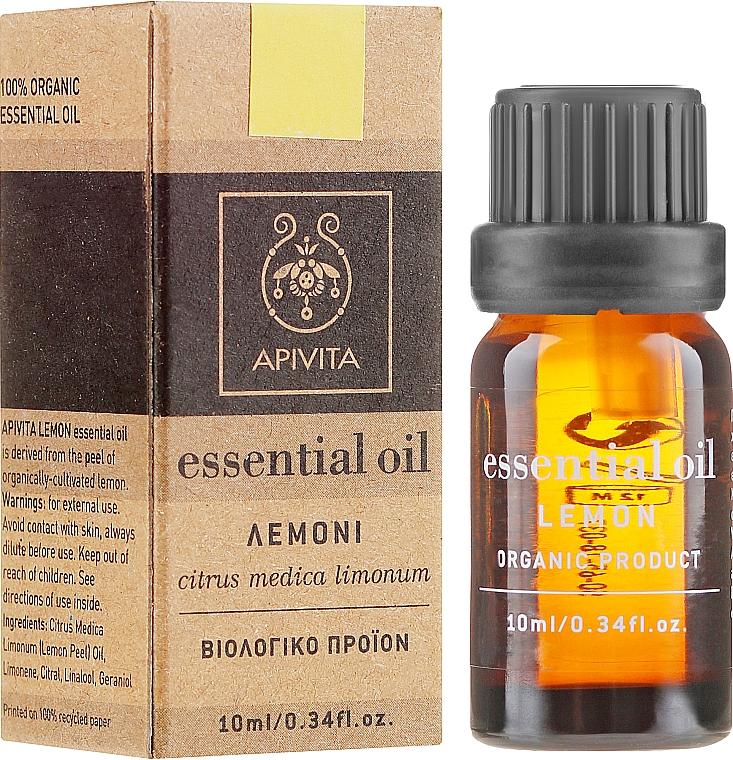 Olejek cytrynowy - Apivita Aromatherapy Organic Lemon Oil — фото N1