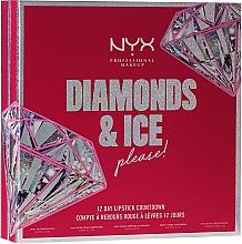 Kup Zestaw - NYX Professional Makeup Diamonds & Ise 12 Day Lipstick Countdown (lip gloss/ 3x4.7 ml + lip oil/ 2x4.7 ml + lipstick/ 7 pc)