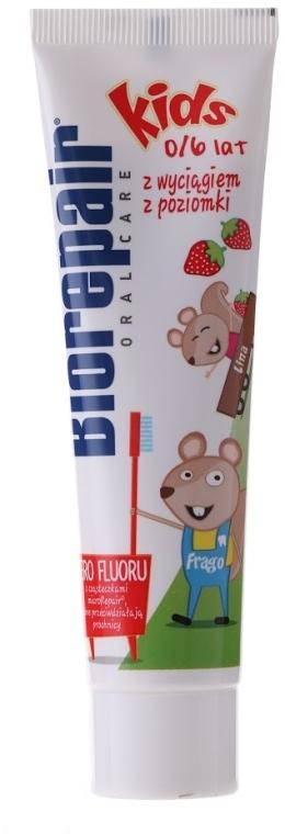Pasta do zębów bez fluoru z wyciągiem z poziomki dla dzieci 0-6 lat - BioRepair Kids Toothpaste