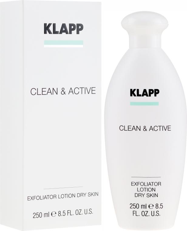 Peelingujący lotion do suchej skóry ciała - Klapp Clean & Active Exfoliator Dry Skin — фото N1