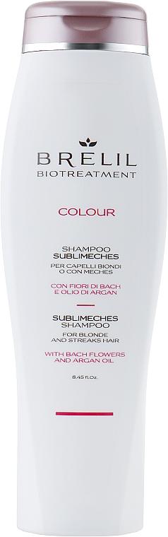 Szampon do neutralizacji żółtych tonów włosów blond i siwych - Brelil Bio Treatment Colour Sublimeches Shampoo For Blonde And Streaks Hair — фото N1