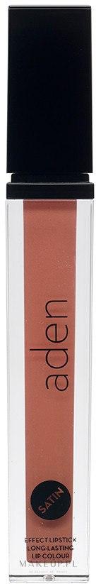 Satynowa szminka do ust - Aden Cosmetics Satin Effect Lipstick — фото 02 - Sheer Salmon