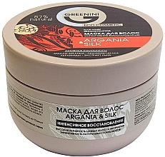 Kup Intensywnie regenerująca maska do włosów Argan i jedwab - Greenini Argania&Silk