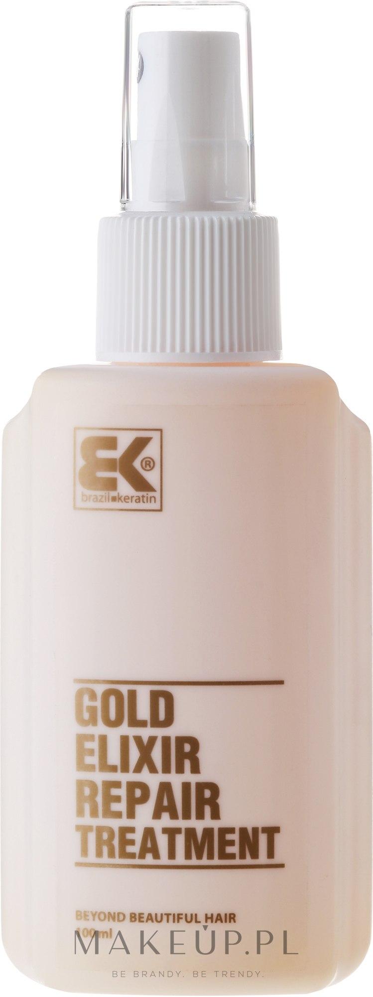 Naprawczy eliksir do włosów - Brazil Keratin Gold Elixir Repair Treatment — фото 100 ml