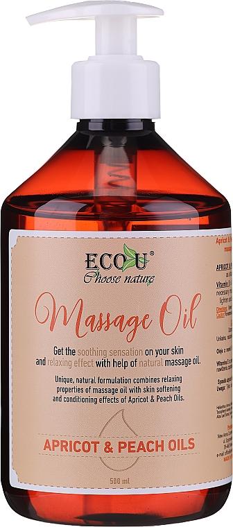 Olejek do masażu z olejem z moreli i brzoskwini - Eco U