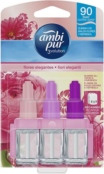 Zestaw wkładów zapachowych Róża - Ambi Pur (refill/3x7ml) — фото N1