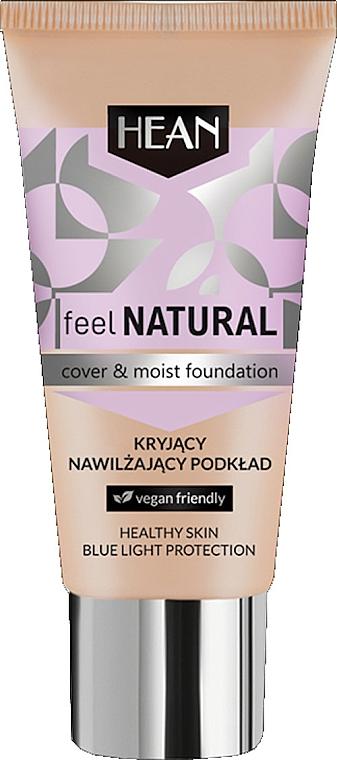 Kryjący nawilżający podkład - Hean Feel Natural Cover & Moist Foundation