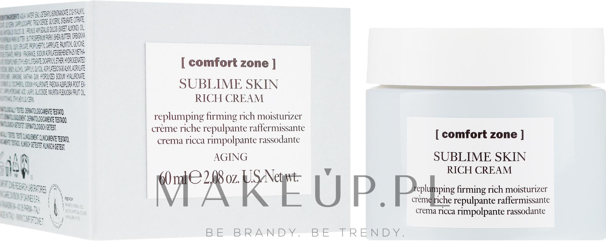 Odżywczy krem ujędrniający do twarzy - Comfort Zone Sublime Skin Rich Cream — фото 60 ml