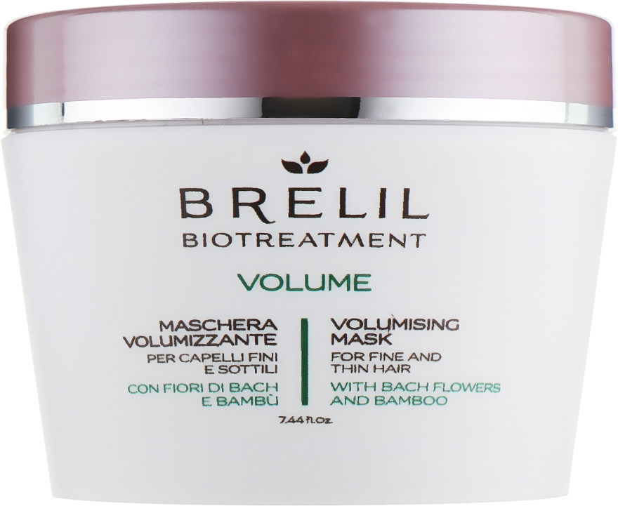 Maska dodająca objętości włosom cienkim - Brelil Bio Treatment Volume Volumising Hair Mask For Fine And Thin Hair — фото N1