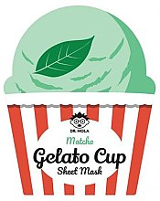 Kup Maska na tkaninie do twarzy - Dr. Mola Matcha Gelato Cup Sheet Mask