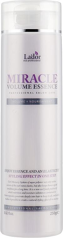 Nawilżająca esencja utrwalająca i zwiększająca objętość włosów - La`Dor Miracle Volume Essence — фото N1