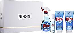 Kup Moschino Fresh Couture - Zestaw (edt 100 ml + edt 10 ml + b/lot 100 ml + sh/gel 100 ml)