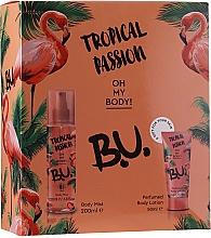 B.U. Tropical Passion - Zestaw (mist 200 ml + b/lot 50 ml) — фото N1