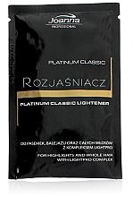 Kup PRZECENA! Bezpyłowy rozjaśniacz do włosów - Joanna Professional Platinum Classic Lightener (sashet) *