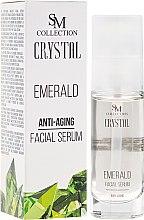 Kup Szmaragdowe serum przeciwstarzeniowe do twarzy - SM Collection Crystal Emerald Anti-Aging Facial Serum