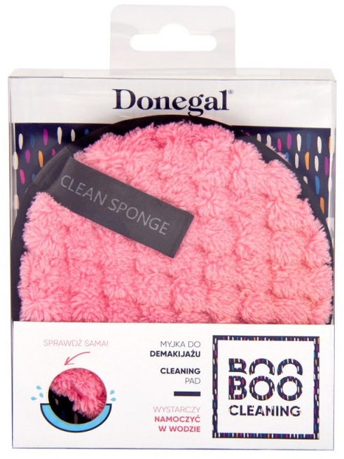 Gąbka do mycia twarzy, różowa - Donegal Boo Boo Cleaning — фото N2