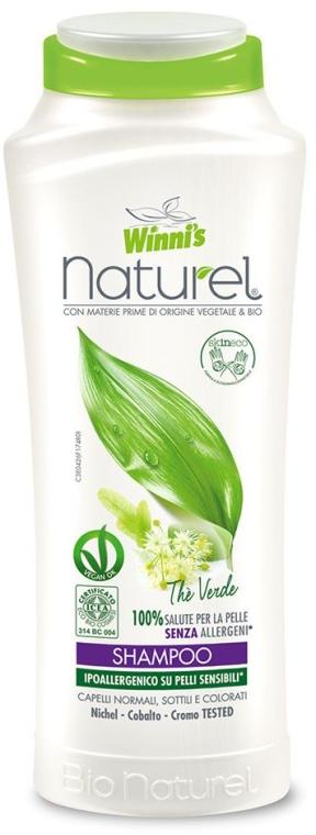 Szampon z naturalnymi ekstraktami z zielonej herbaty i kasztanowca - Winni's Naturel Shampoo The Verde — фото N1