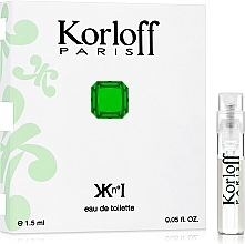 Kup Korloff Paris Kn°I - Woda toaletowa (próbka)